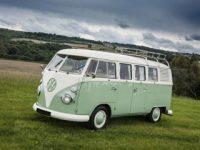Volkswagen Transporter Camper Van Green Beige Real
